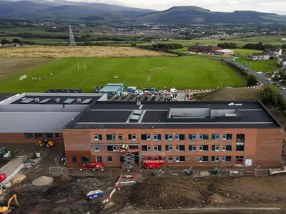 The Whitehaven Academy. The new build site under construction alongside the existing school site: 14 September 2021 Stuart Walker Copyright Stuart Walker Photography 2021